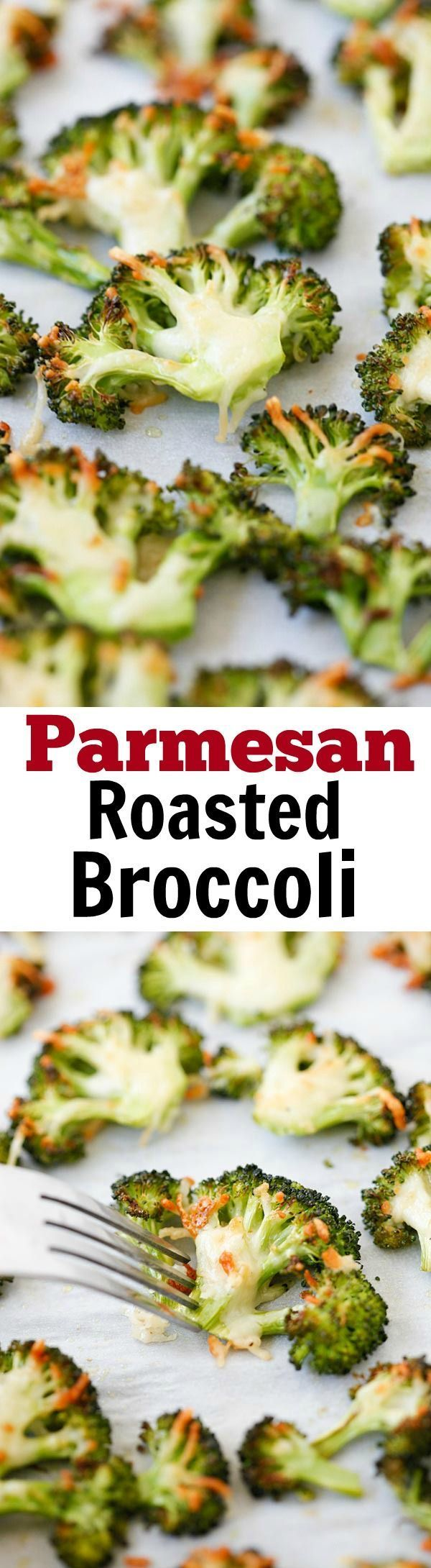 Parmesan Roasted Broccoli – easy delicious roasted broccoli recipe, with Parmesan cheese. 5 mins prep and 20 mins to table.