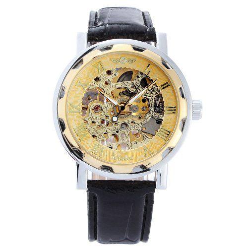 Sale Preis: Winner - Herrenuhr - Selbstaufzug mechanische Uhr - Leder armbanduhr - golden. Gutscheine & Coole Geschenke für Frauen, Männer und Freunde. Kaufen bei http://coolegeschenkideen.de/winner-herrenuhr-selbstaufzug-mechanische-uhr-leder-armbanduhr-golden