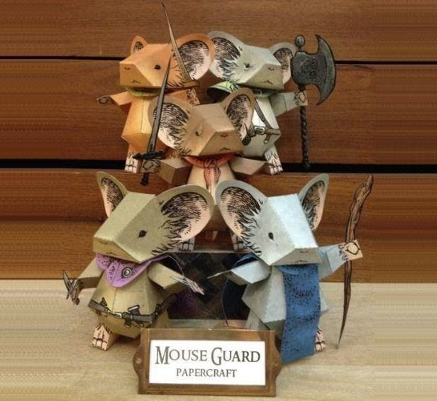 Here are the 3-Dimensional paper figures  of Mouse Guard universe , for assembly, display and play . Mouse Guard  is a comic book series w...