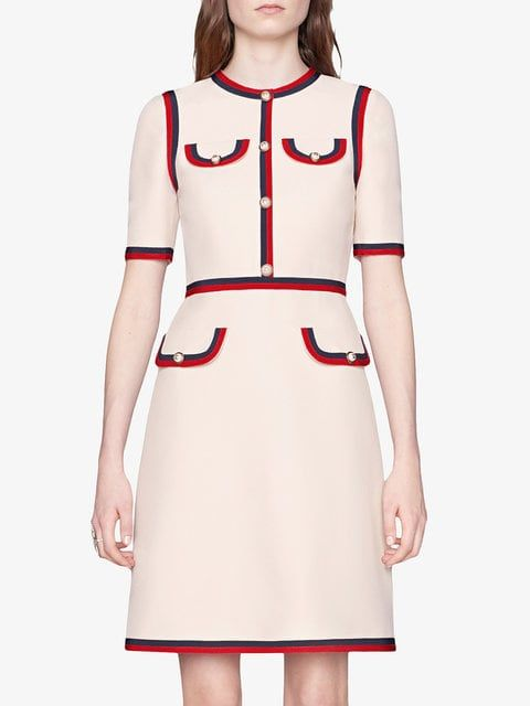 5c0511193d5 Gucci Wool Silk Dress With Web | clothing | Dresses, Silk Dress, Gucci