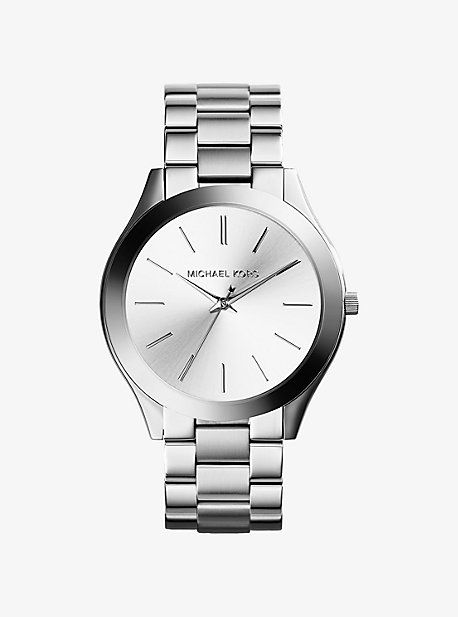Slim Runway Silver-Tone Watch