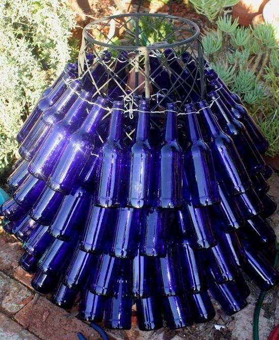 67 best bottle tree images on pinterest glass bottles for How to make a beer bottle christmas tree