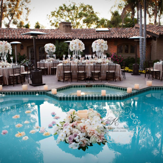 Outdoor Wedding Reception Ideas For Summer: 32 Best Images About Poolside Bridal Shower..... On