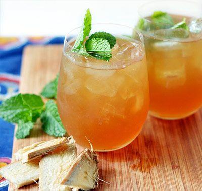 Zdravý domáci ľadový čaj