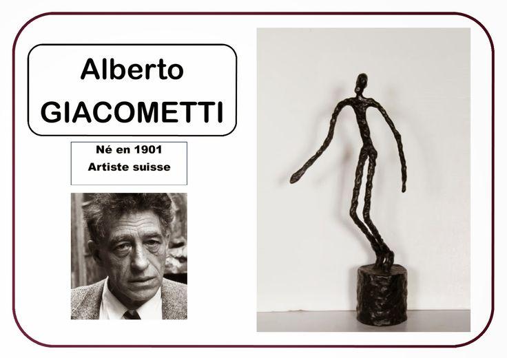 Portrait d'artiste Giacometti en MS