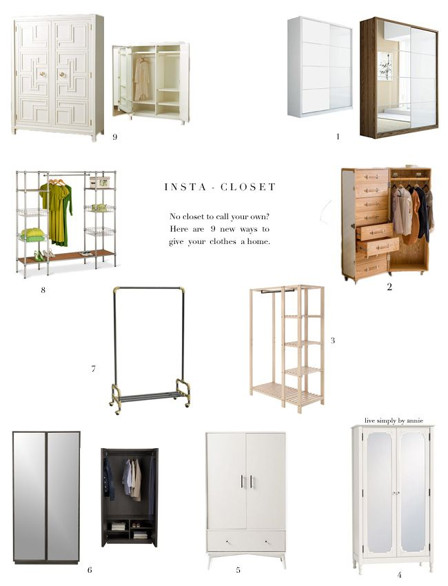 9 no closet solutions good to know pinterest no No closet hanging solutions