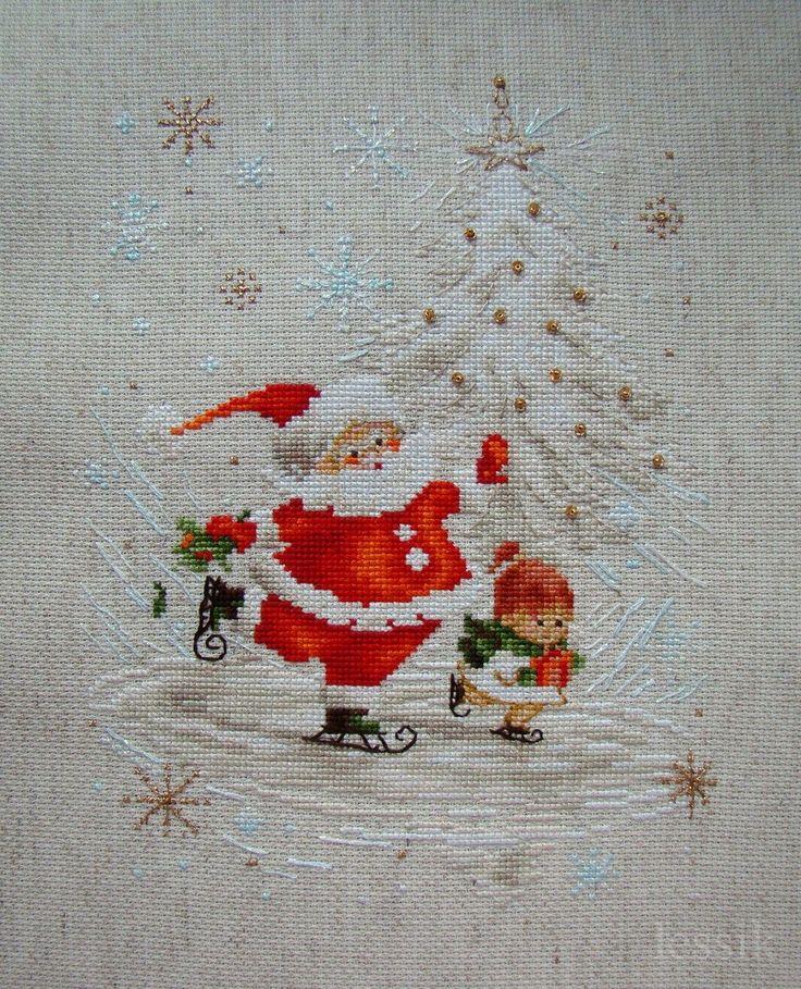 Skating Santa and friend.