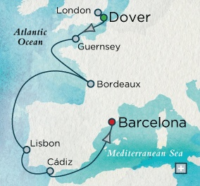 Crystal Cruise on the Serenity Sept 2-11, 2013European Embrace Map