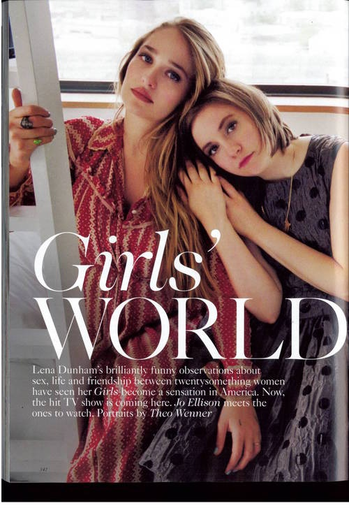 Jemima Kirke and Lena Dunham.....I want to be best friends with these two