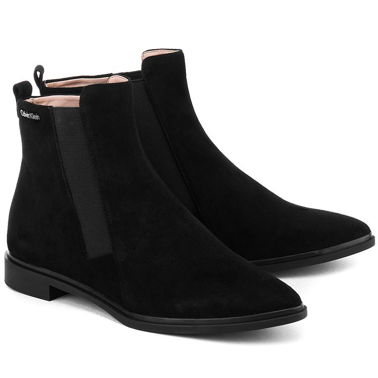 CALVIN KLEIN Vivi - Czarne Zamszowe Sztyblety Damskie  #mivo #mivoshoes #shoes #buty #calvinklein #boots #sztyblety #black #colors #leather #suede #fall #autumn #new #collection #newcollection #fashion #elegant #style #stylish #2015 #2016