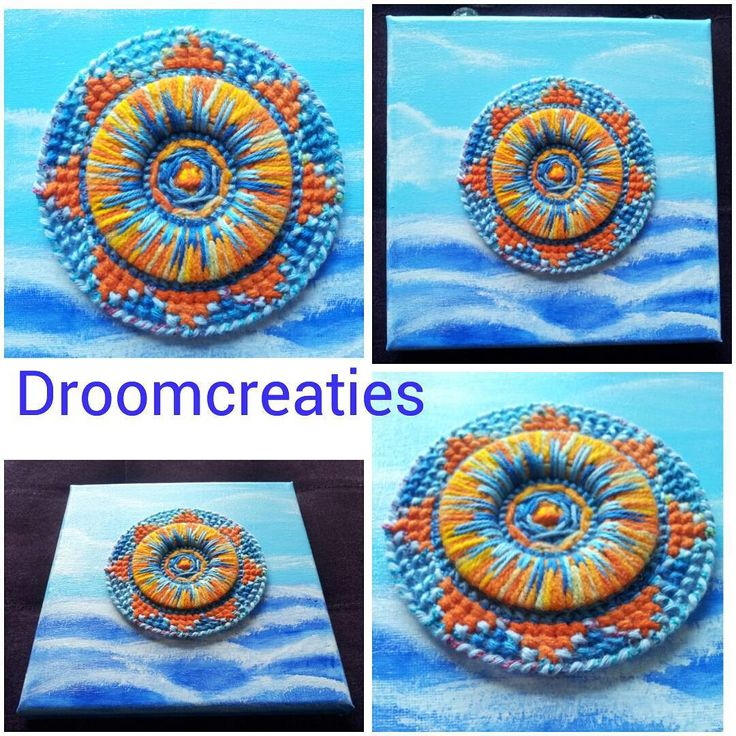 Imagine the sunset, reflecting on the sea !★ handmade canvas acryl painting with 3d needlework for wall art★ #mandala #mandalapainting #needlework #canvasart #handmade #droomcreaties #acrylic #acrylpainting #sunset #sea #3d #wallart #instagram #artoftheday #artsy #creative