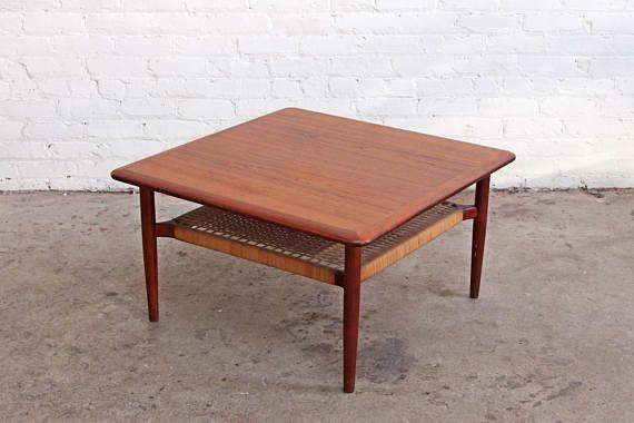 Johannes Andersen Danish Two Tier Coffee Table Coffee Table Teak Table Table