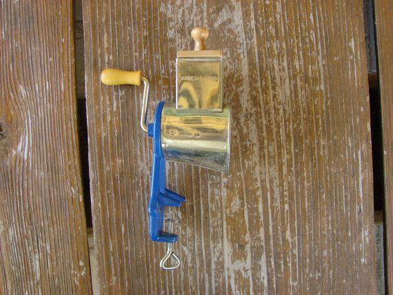 Vintage Svedish Primitive Hand Juicer 1950s Rustic by Luckytage