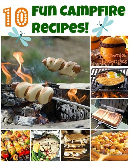 10 fun campfire recipes and lots more camping info!