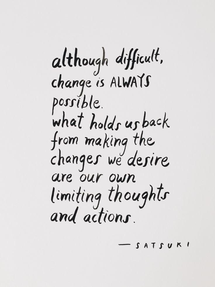 Change is always possible