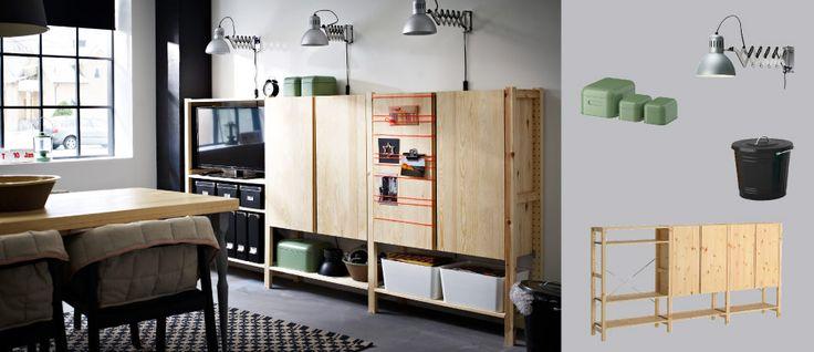 les 25 meilleures id es de la cat gorie ikea ivar shelves sur pinterest tag res appartement. Black Bedroom Furniture Sets. Home Design Ideas