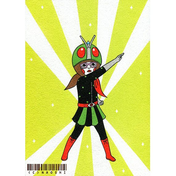 Art Print  Kamen Rider Girl by Naoshi on Etsy
