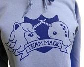 Narwhal Unicorn Hoodie - TEAM MAGIC Hooded Sweatshirt - Unisex Sizes S, M, L, XL. $28.00, via Etsy.