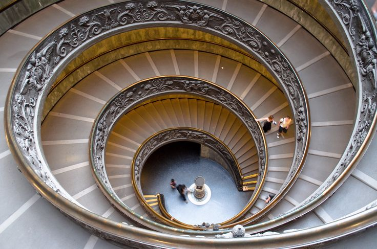 Double Spiral Staircase In The Vatican Museums Italy