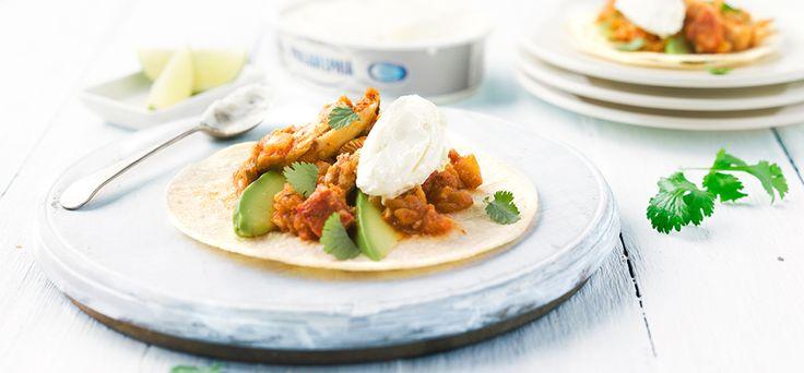 "Philadelphia Tortilla's metkip, Mexicanse ""chipotle"" saus en Philadelphia"