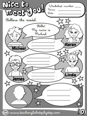 Names - Worksheet 1 (B&W version)