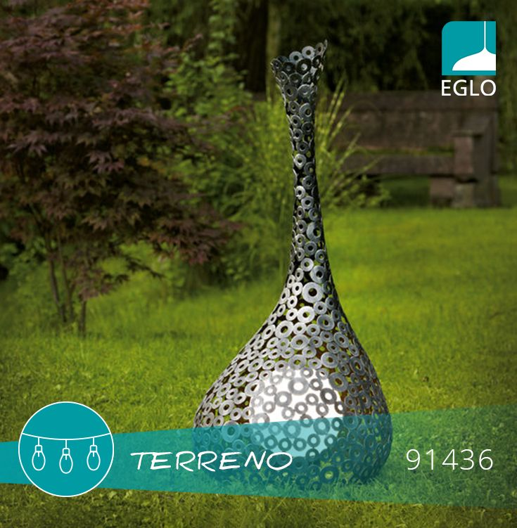 TERRENO este o sculptură metalică desăvârșita, o adevărată operă de artă contemporă EGLO.