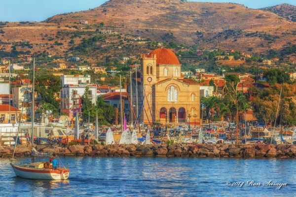 Aegina Town, the church at the port