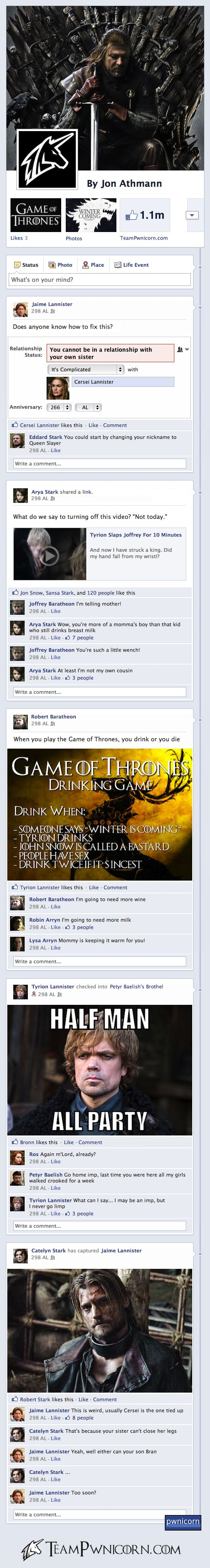 Game of Thrones on Facebook - Imgur... Too funny!
