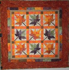 Maple Leaf Quilt Autumn Winter Holidays Quilts Barn