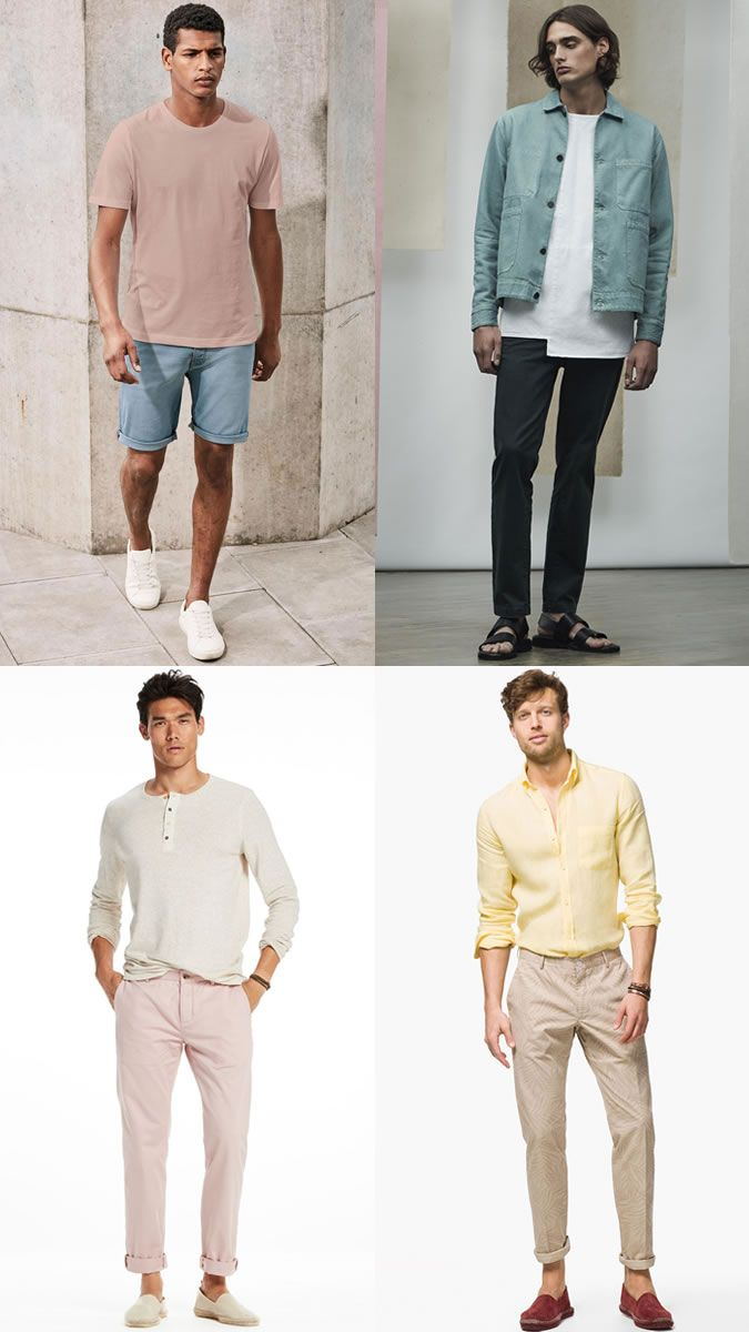 Men's Pastel Clothing Spring/Summer 2017 Fashion Trend Outfit Inspiration Lookbook
