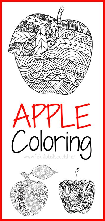 Apple Themed Coloring Pages : Best images about fall theme on pinterest autumn