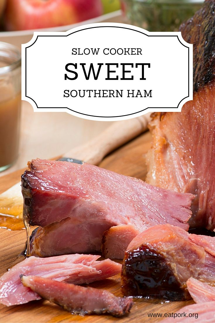 Oven full of sides or pies? Break out the slow cooker and make a mouthwatering ham! #recipe #holiday  www.eatpork.org