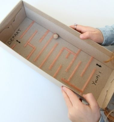 Golyós labirintusjáték gyerekeknek szívószálból / Mindy - kreatív ötletek és dekorációk minden napra