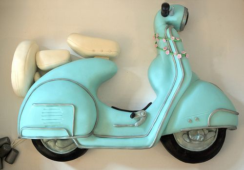 Retro Vespa Scooter Cake