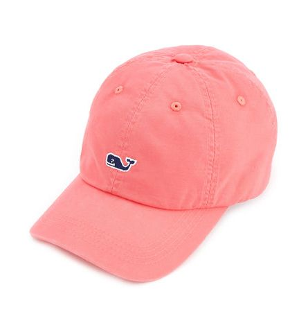 Vineyard Vines Whale Logo Baseball Hat - Jetty Red