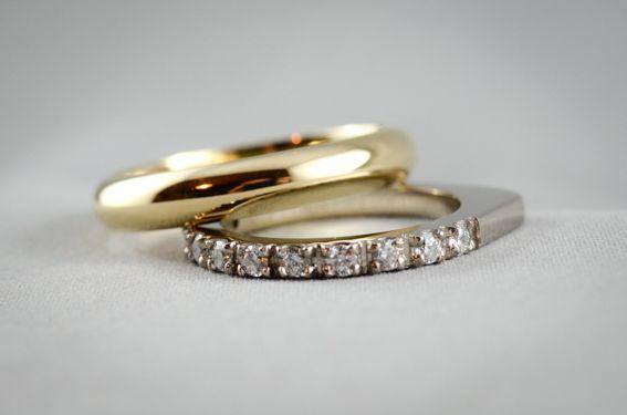Natasha Arcuri Jewellery - 18ct gold wedding bands