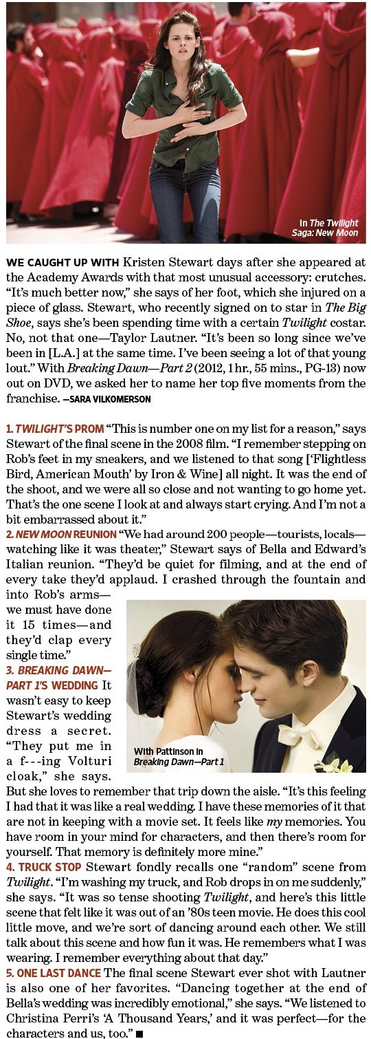 Kristen Stewart's 5 Favorite Twilight Moments