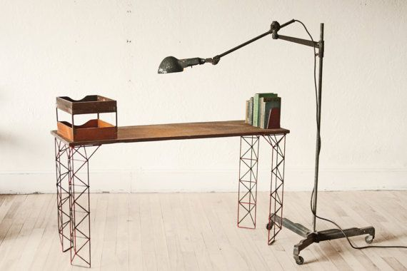 Large Industrial Age Articulating Floor Lamp Woodward Machine Co.  Detroit Michigan on Etsy, $650.00