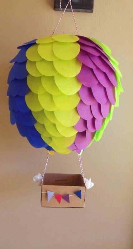 Vertical Striped Hot air balloon