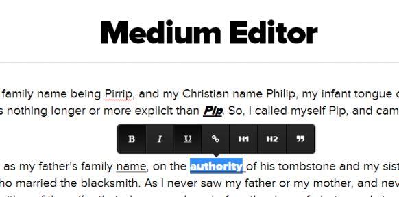 Clone of Medium WYSIWYG like Editor