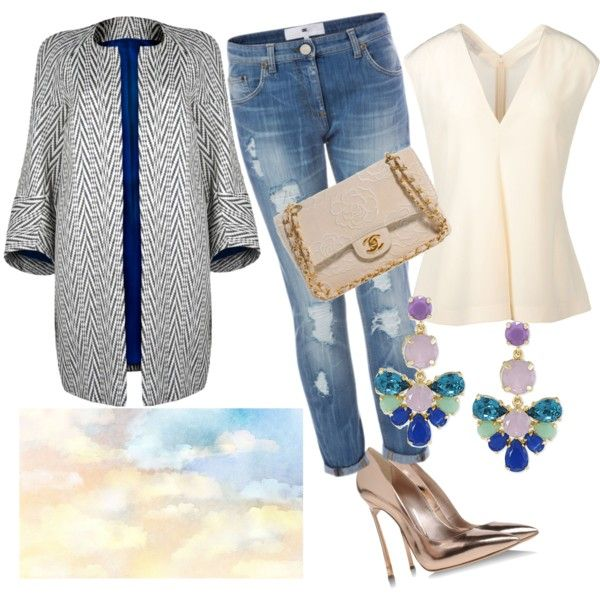 """Ikat and jeans"" by ikatandfashion on Polyvore"