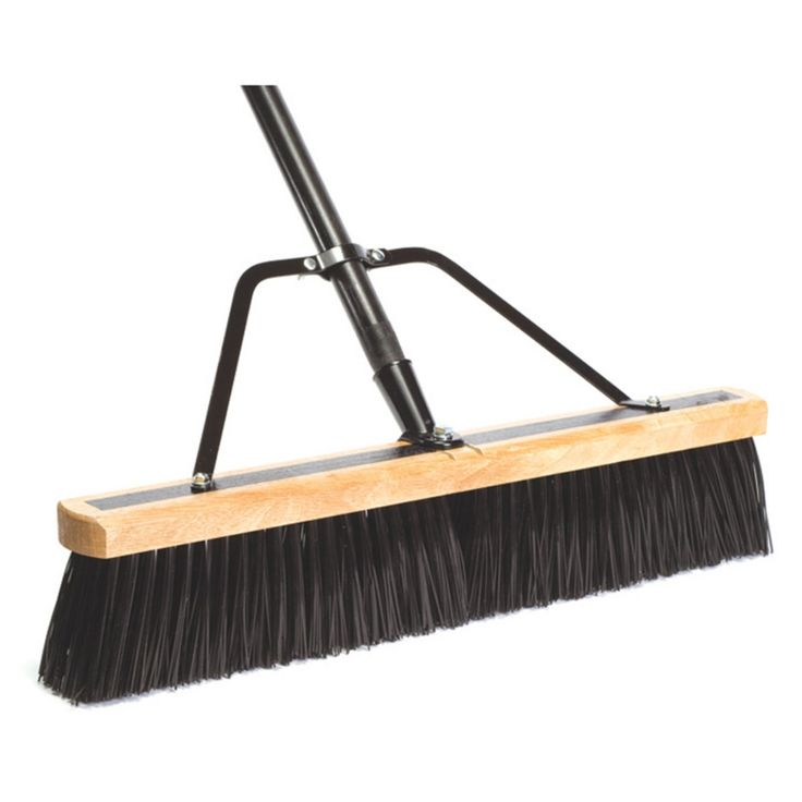 DQB Industries 24 in. Push Broom with Handle and Brace - 3260-8556