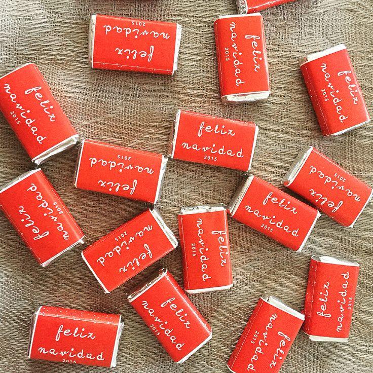 Chocolatinas personalizadas especial navidad 2015