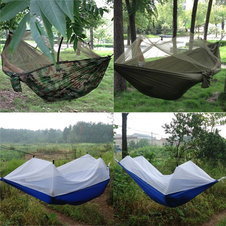Portable High Strength 250cm x 120cm Parachute Fabric Hammock  tent Hanging Bed Mosquito Outdoor Camping Sleeping Hammock