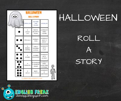 English Freak | Blog o nauczaniu języków obcych: HALLOWEEN - ROLL A STORY