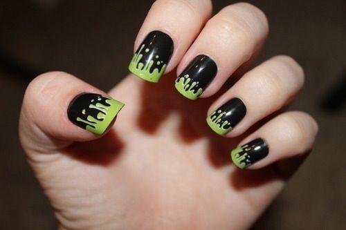 Cute toxic emo nails - nail art - fashion