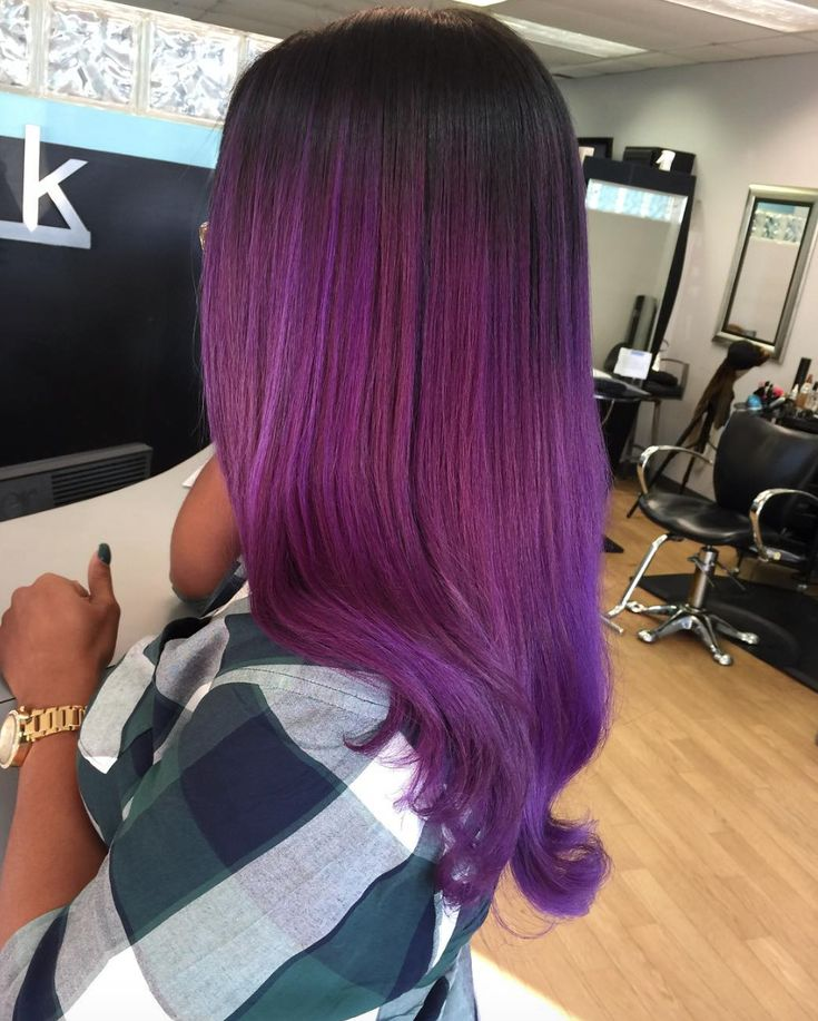 Yass purple ombre by @hautehairbylauren  Read the article here - http://blackhairinformation.com/hairstyle-gallery/yass-purple-ombre-hautehairbylauren/