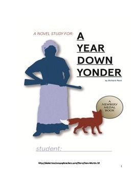 This is a ready-to-use, fifty-two page packet designed for use with students in grades 4-8 who are reading the Newbery Award Medal winner, A Year Down Yonder, by Richard Peck.  The packet includes student vocabulary bookmarks, a twenty two page student booklet including an answer key, a 20-point, end-of-book test and key, and a listing of Common Core Standards supported in the student booklet.