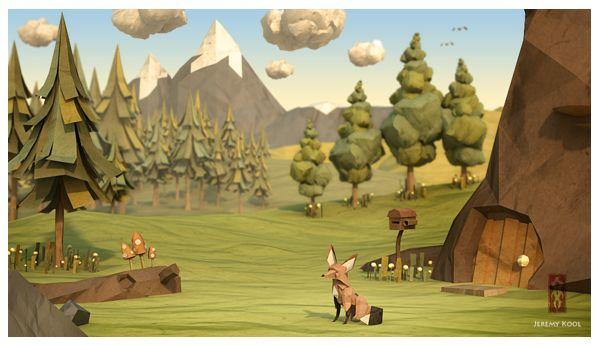 The Paper Fox by Jeremy Kool, via Behance http://www.behance.net/gallery/The-Paper-Fox/2069658