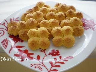 Biscoitos de baunilha e côco